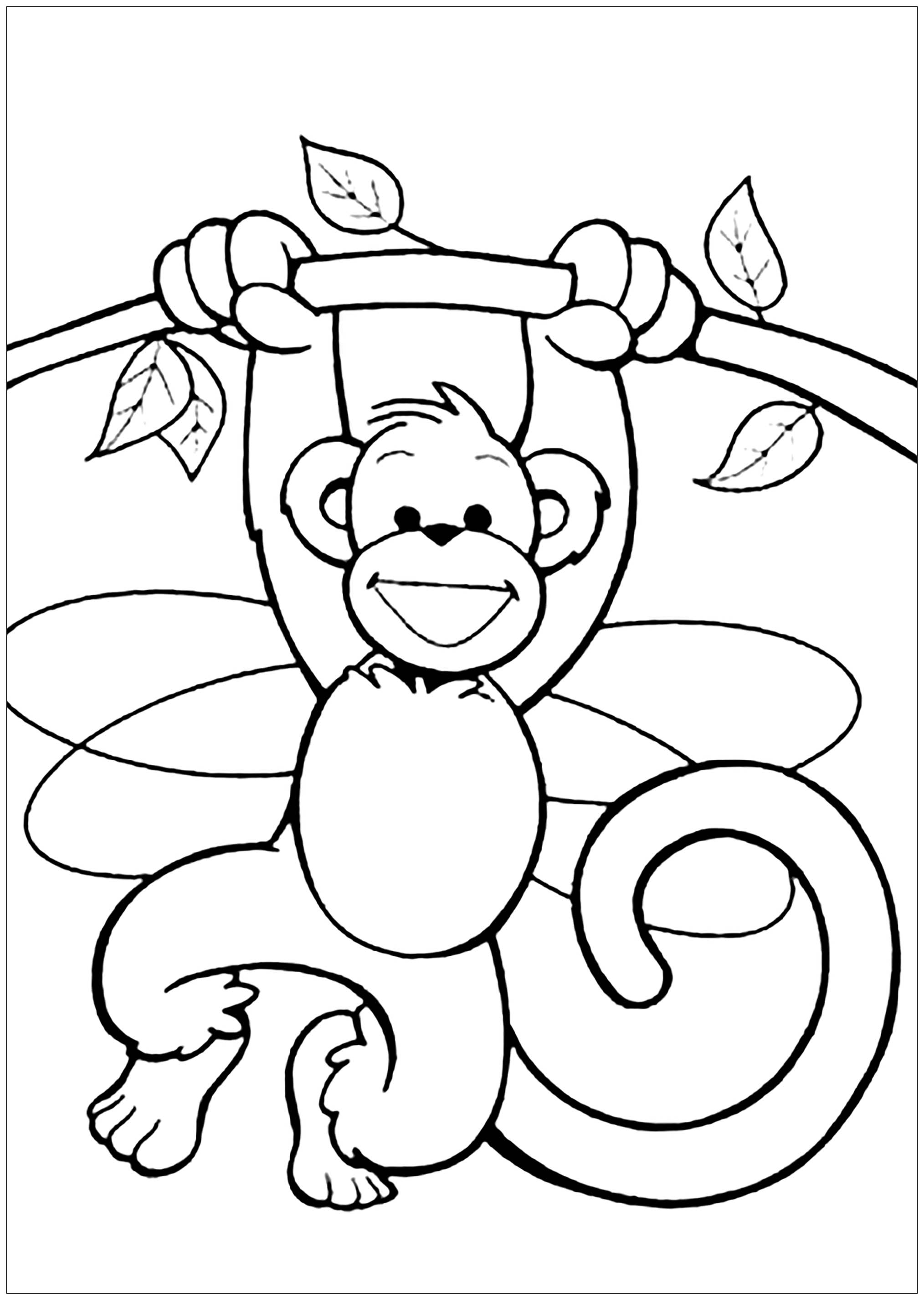 Monkeys to download for free - Monkeys Kids Coloring Pages