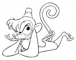 Coloring page monkeys free to color for kids