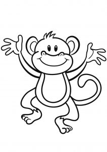 Coloring page monkeys to download