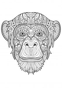 Coloring page monkeys to download for free
