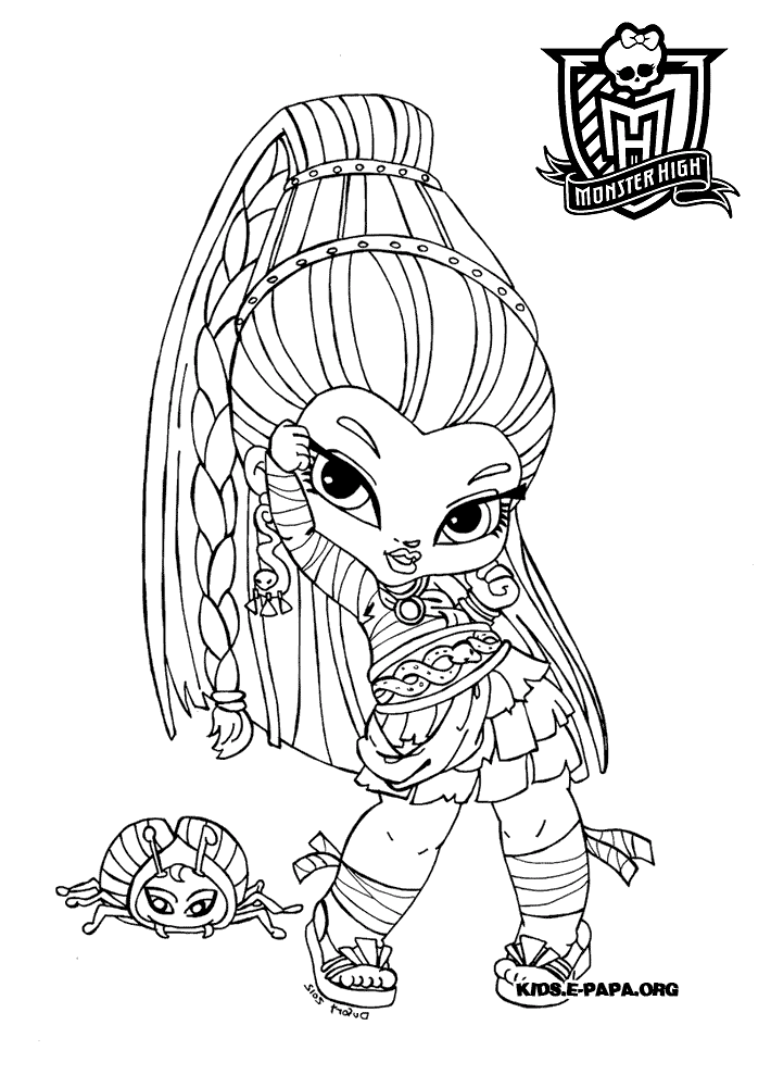 Funny Monster High coloring page
