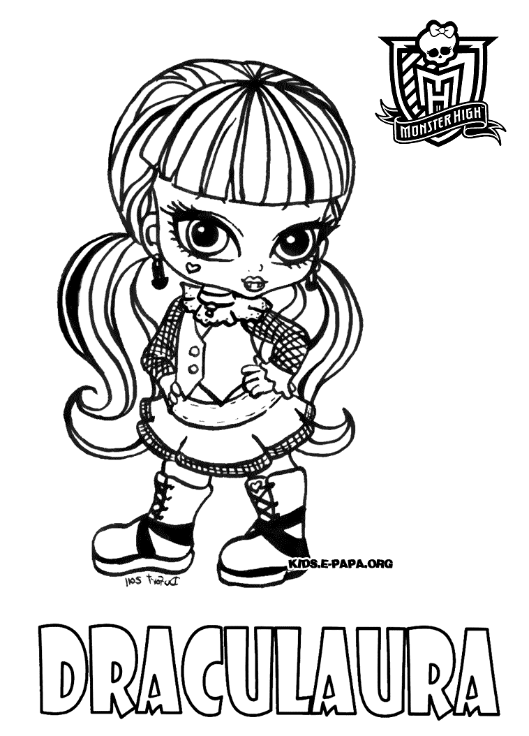 Free Monster High coloring page to print and color, for kids