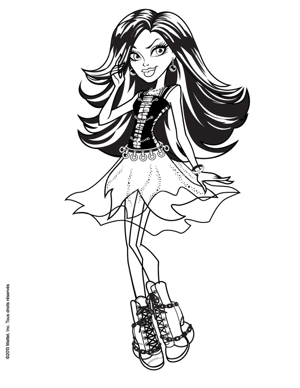 Incredible Monster High coloring page to print and color for free