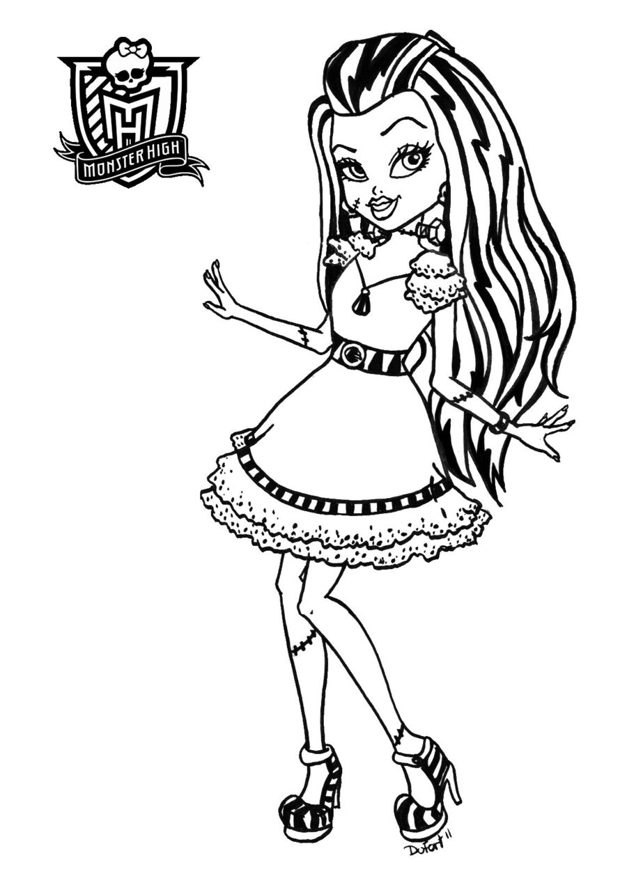 Monster High coloring page to print and color for free