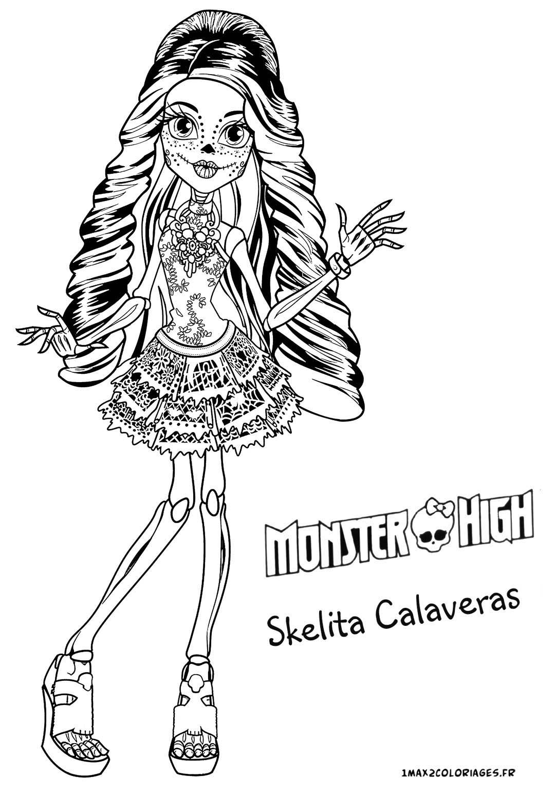 Beautiful Monster High coloring page to print and color