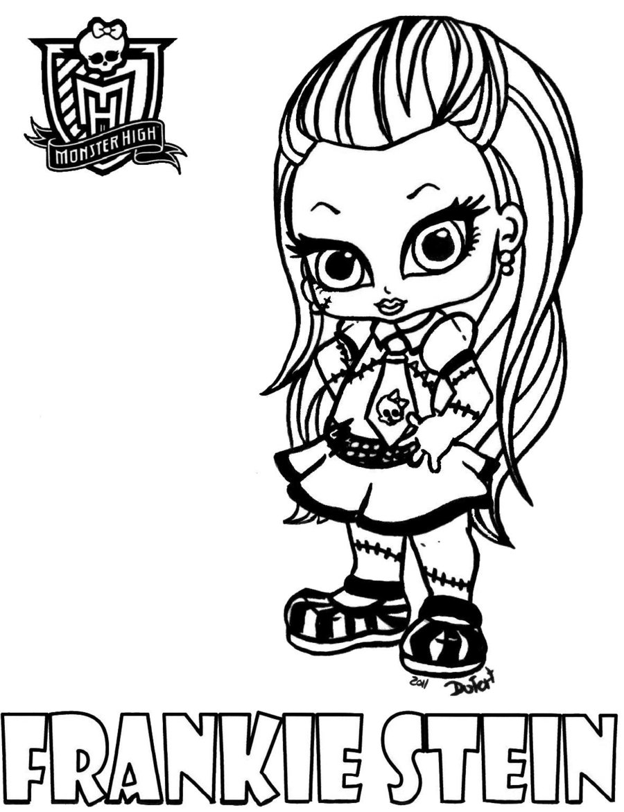 Simple Monster High coloring page to download for free