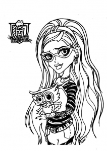 monster high coloring pages their pets - Prinzewilson.com ... | 300x212