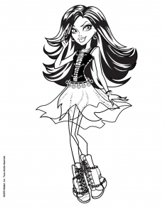 Coloring page monster high for kids
