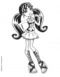 Coloring page monster high for children