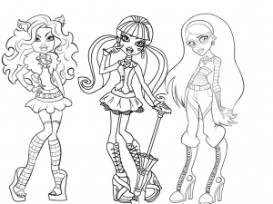 picture relating to Printable Monster High Coloring Pages identified as Monster Significant - Totally free printable Coloring web pages for little ones