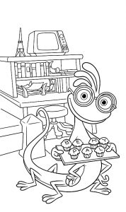 Coloring page monsters academy to color for children