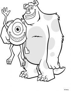 Coloring page monsters academy for kids