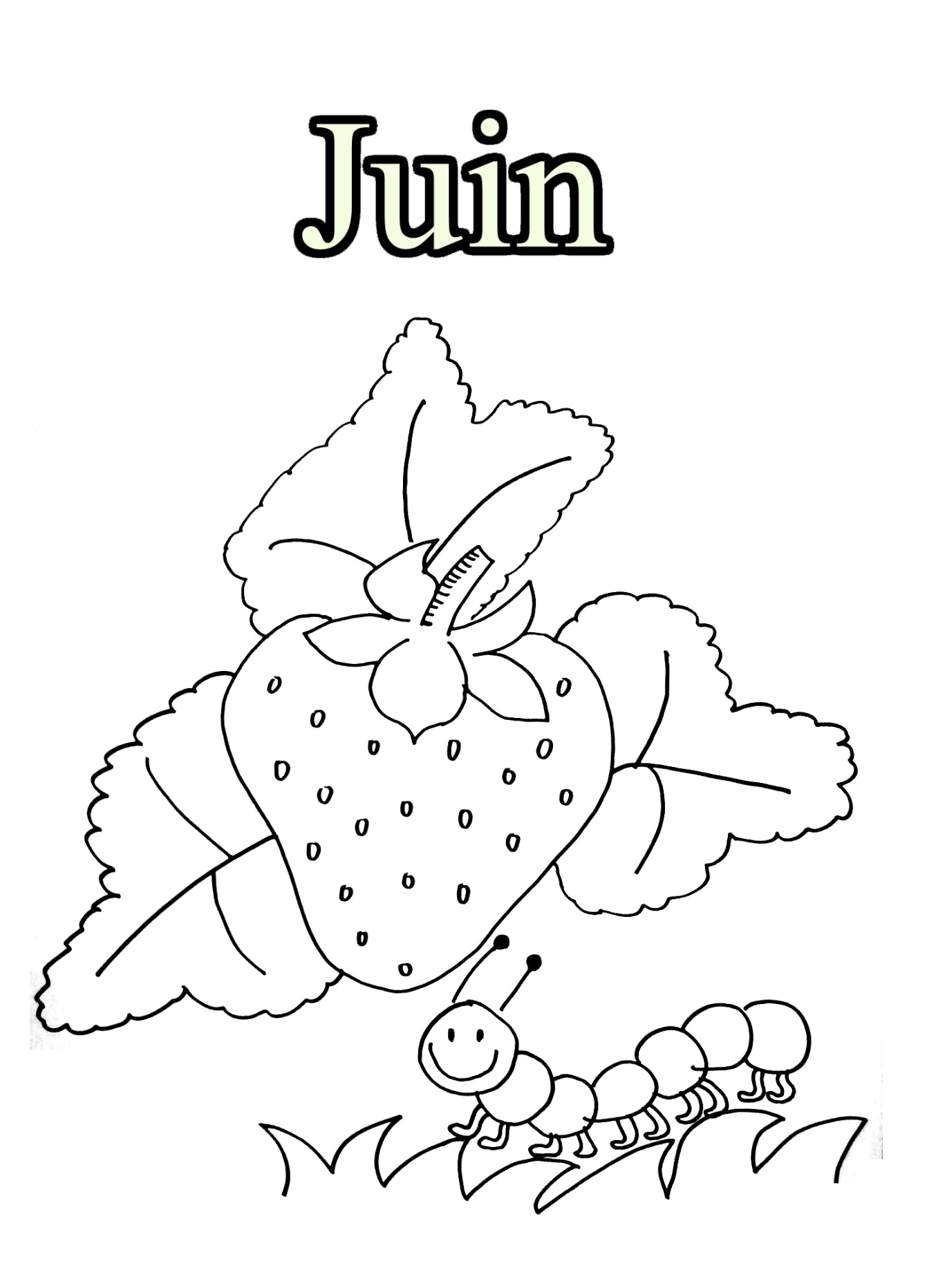 Month free to color for children - Month Kids Coloring Pages