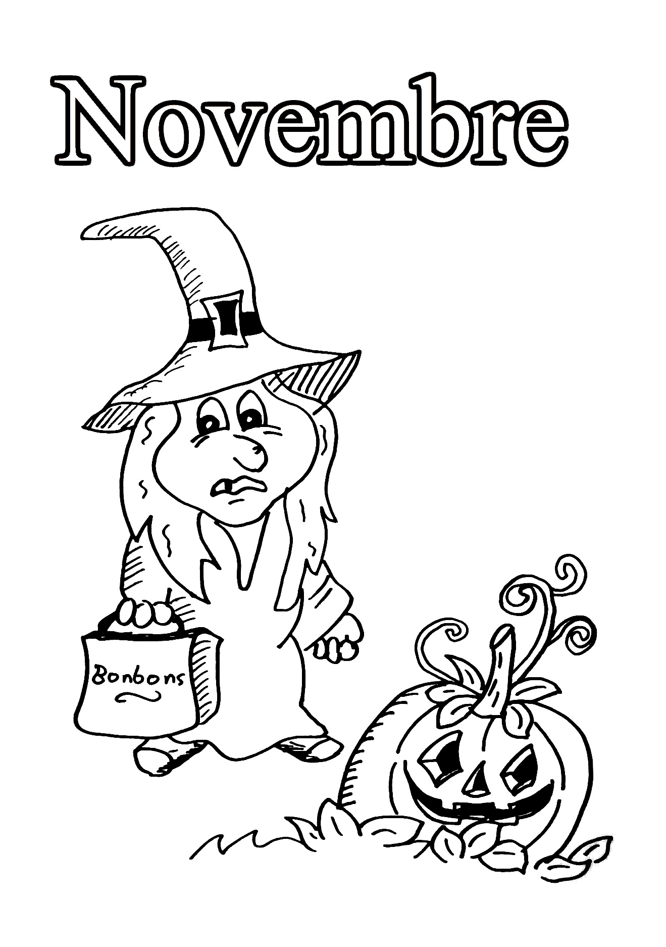Free Month coloring page to download
