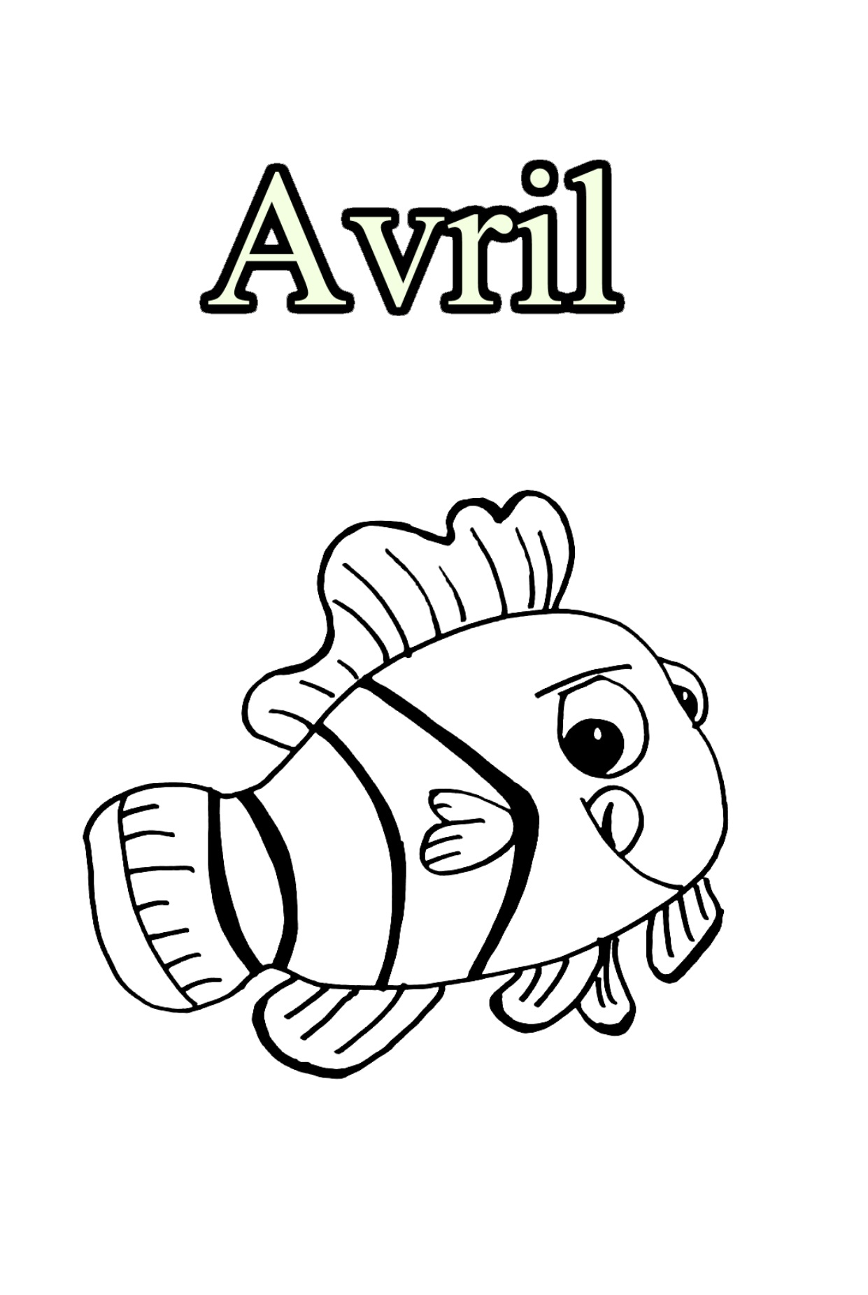 Cute free Month coloring page to download