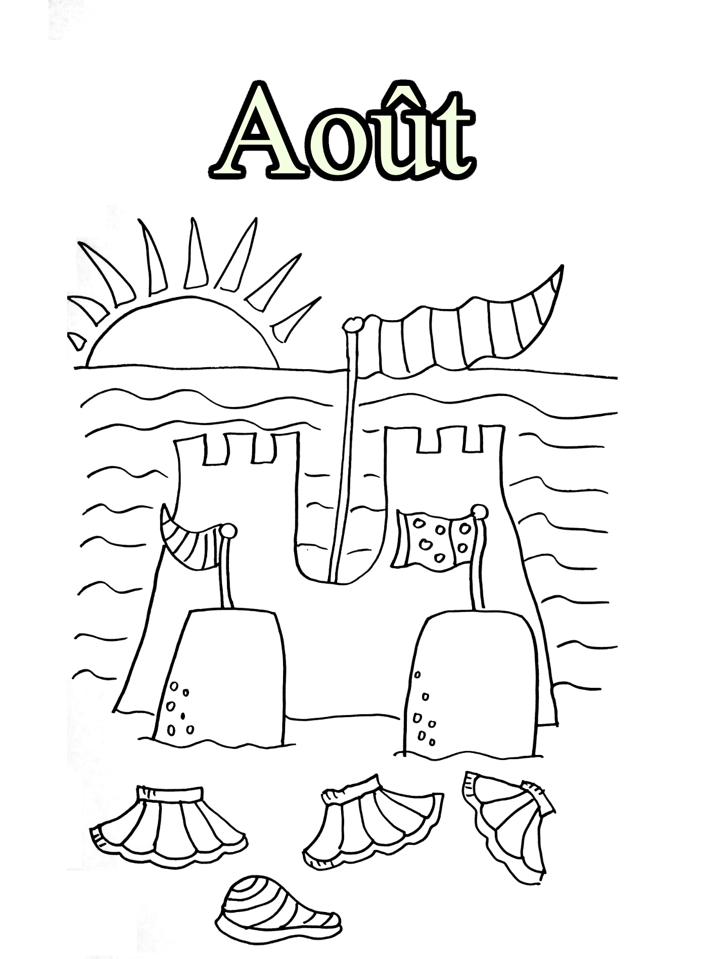 Simple Month coloring page