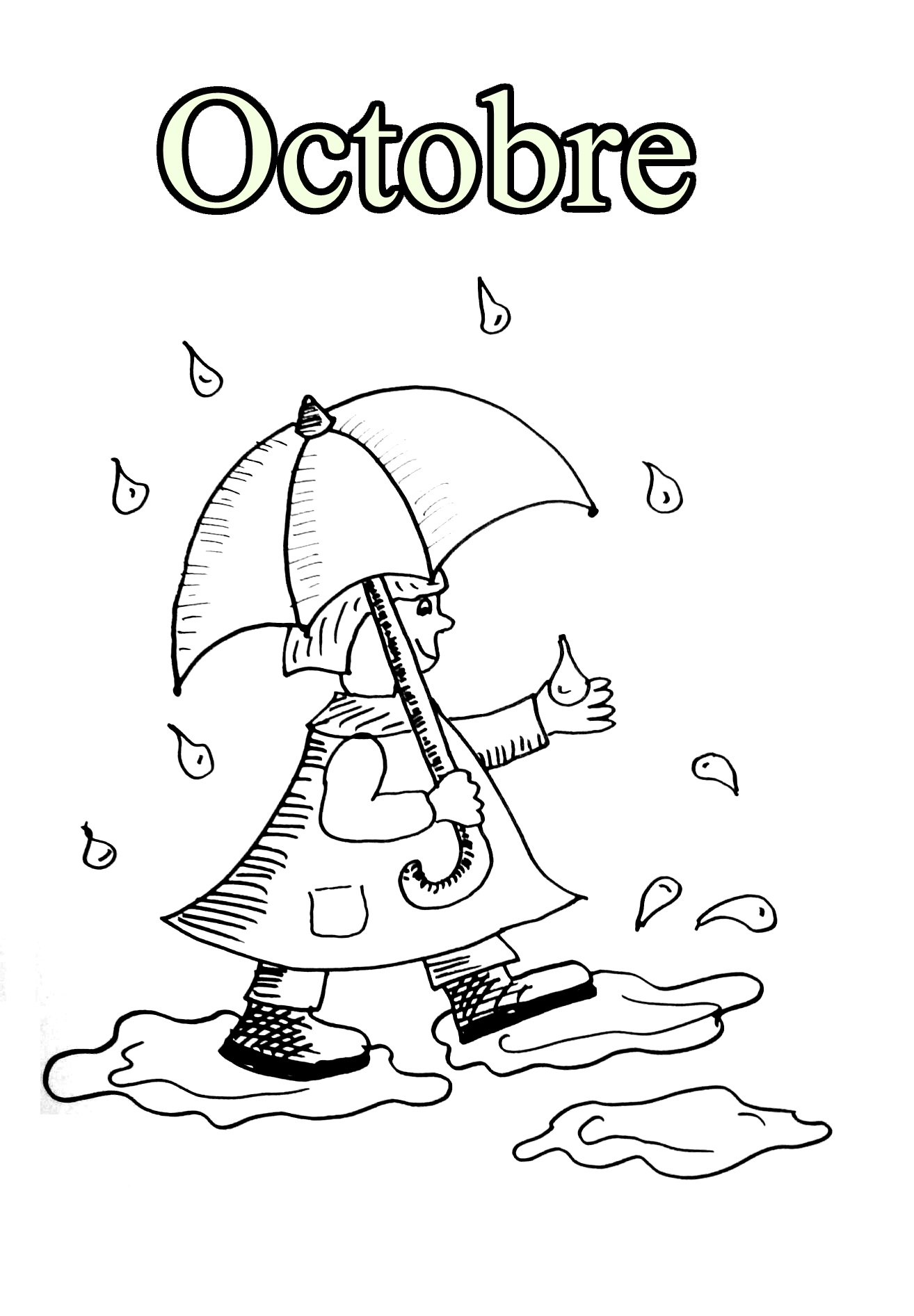Printable Month coloring page to print and color for free