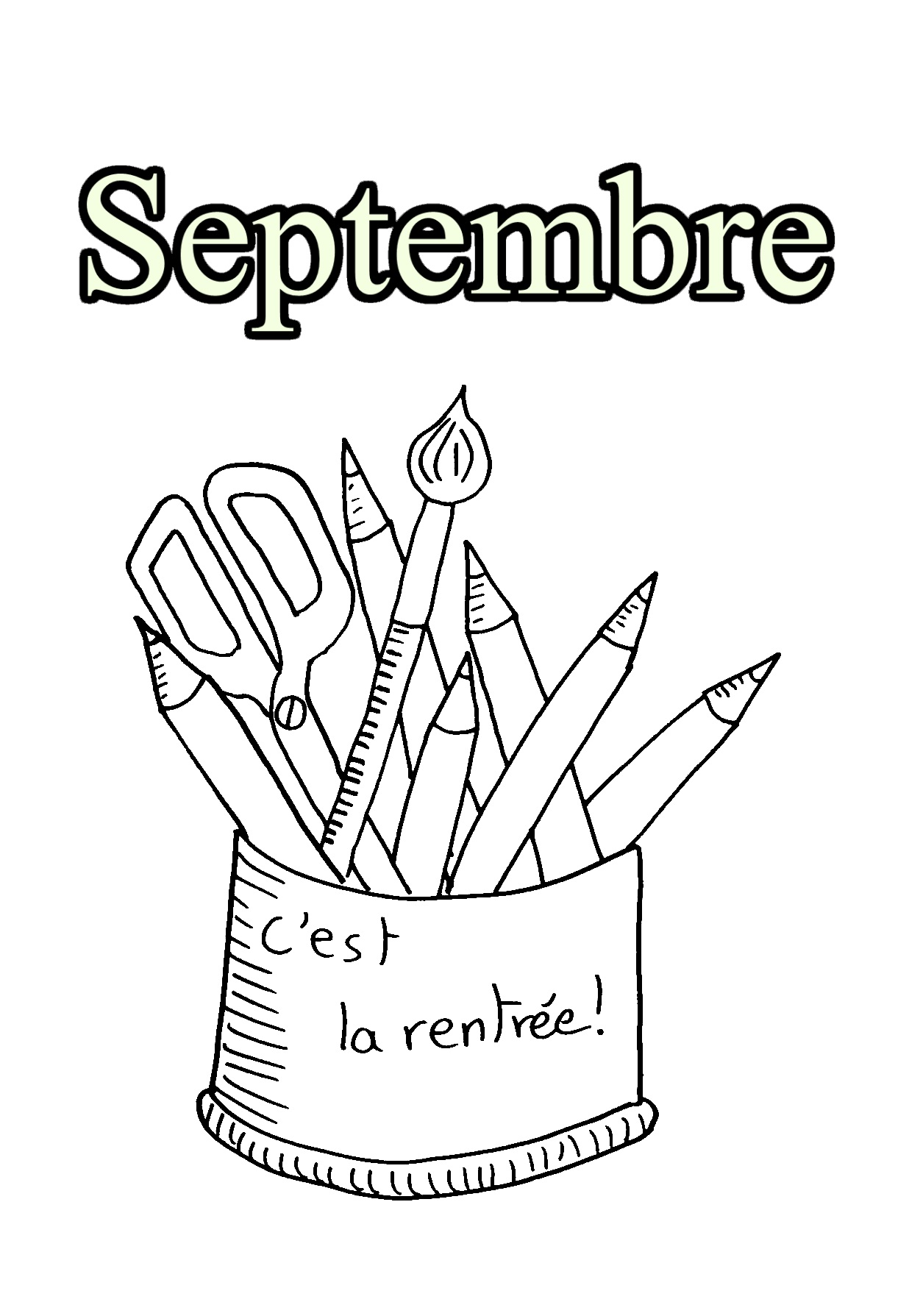 Month coloring page to download for free