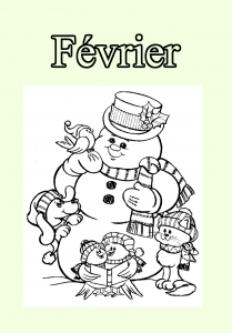 Coloring page month to download for free