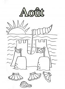 Coloring page month for children
