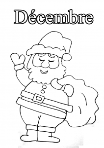 Coloring page month to color for kids