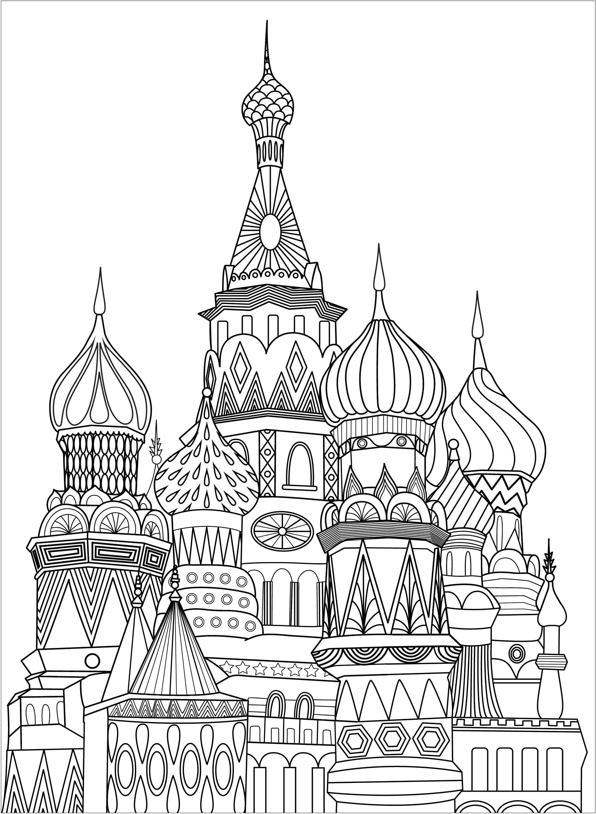 Beautiful Monuments coloring page