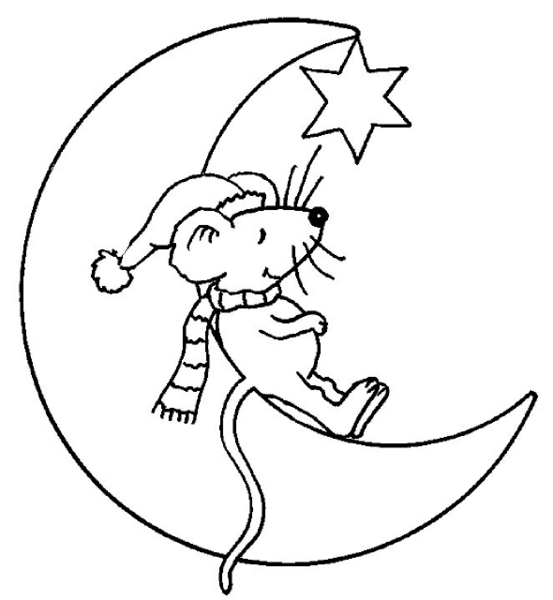 Mouse coloring page to print and color for free