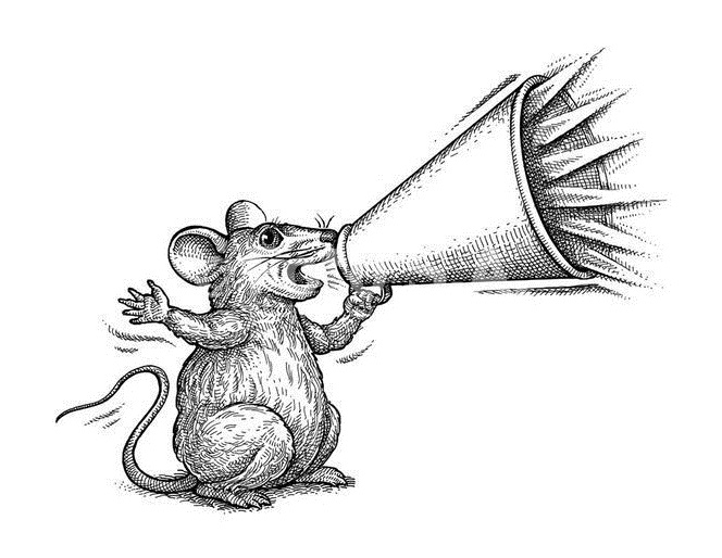 Mouse coloring page to download