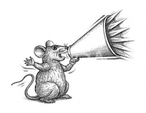 Coloring page mouse for children