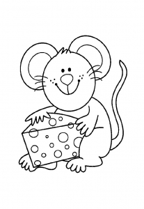 Coloring page mouse free to color for kids