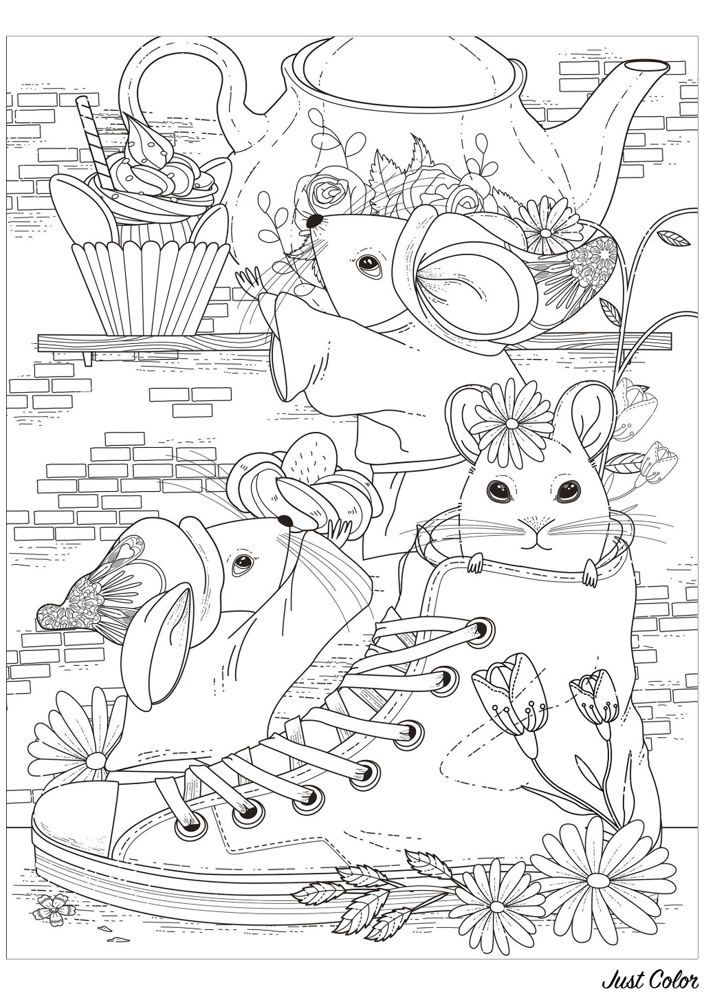 Free Mouse coloring page to download
