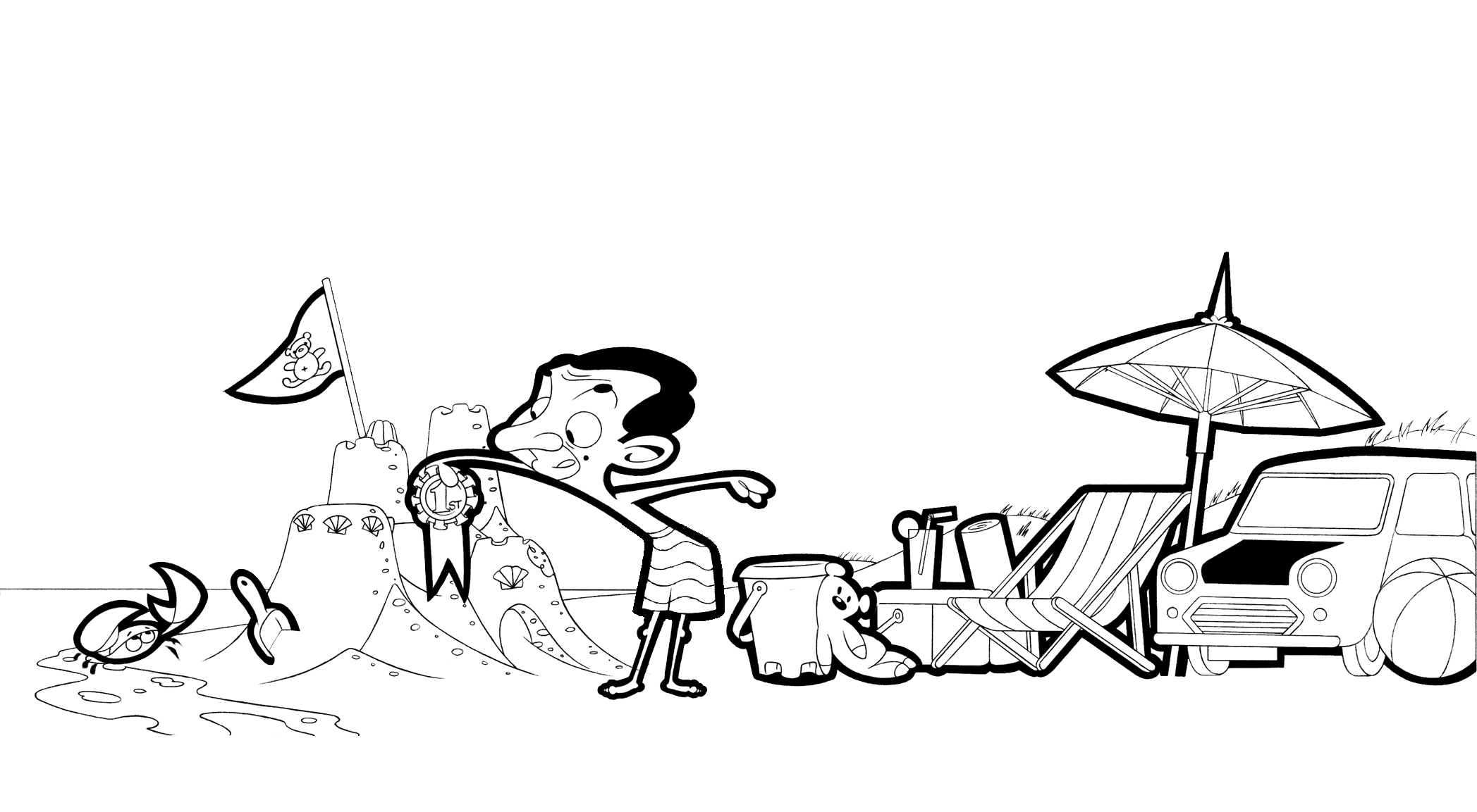 Mr Bean Kids Coloring Pages