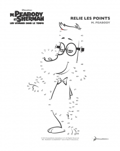 Coloring page mr peabody & sherman for children