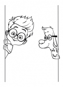 Coloring page mr peabody & sherman to color for kids