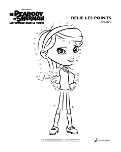 Coloring page mr peabody & sherman to print