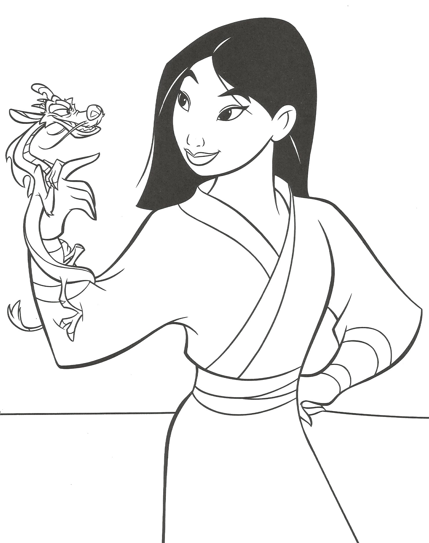 Mulan to download for free Mulan Kids Coloring Pages
