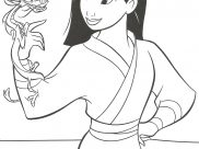 Mulan Coloring Pages for Kids