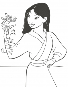Coloring page mulan to download for free