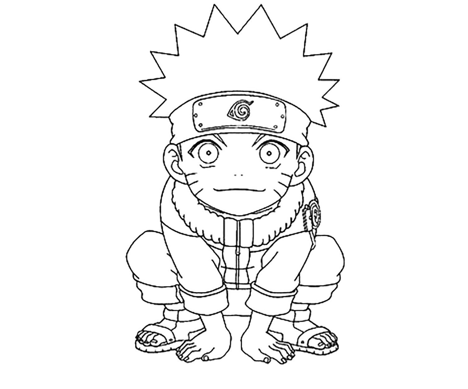 Naruto coloring page to print and color