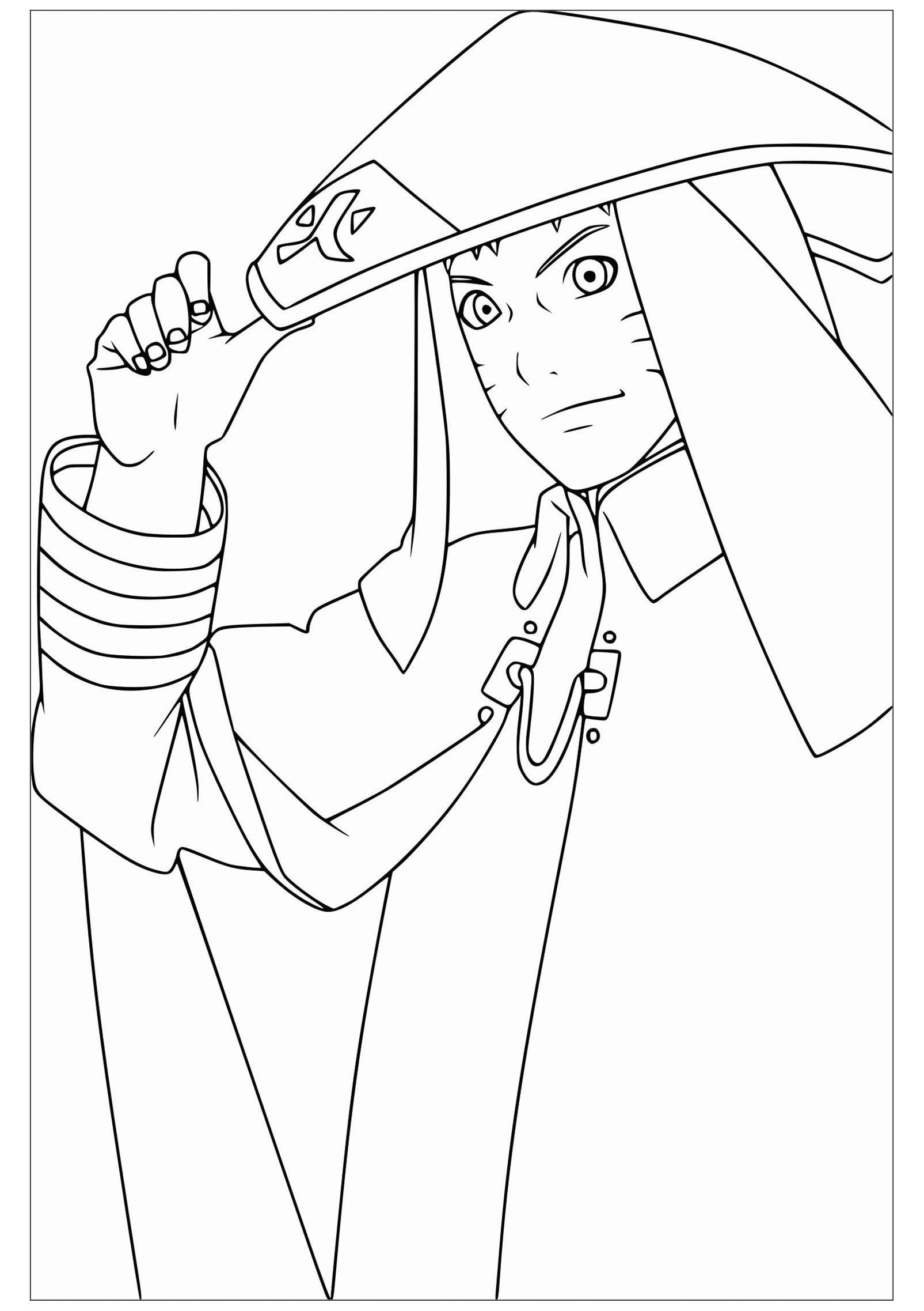 Free Naruto coloring page to download