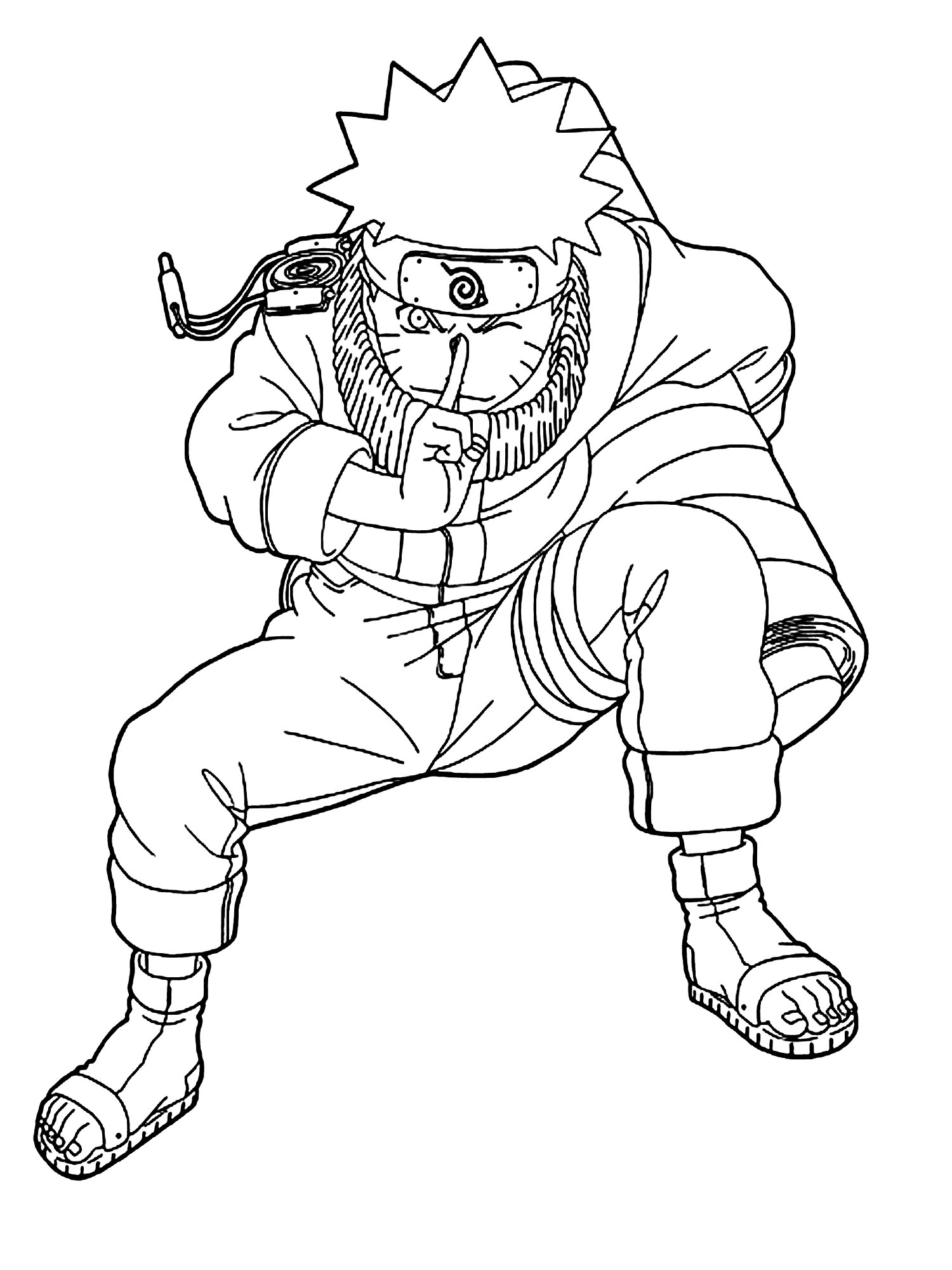 Simple Naruto coloring page to download for free