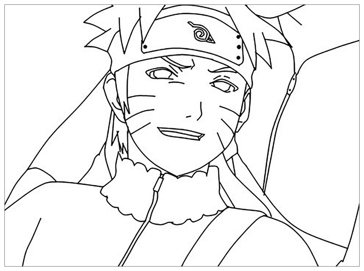 Naruto coloring page to download for free