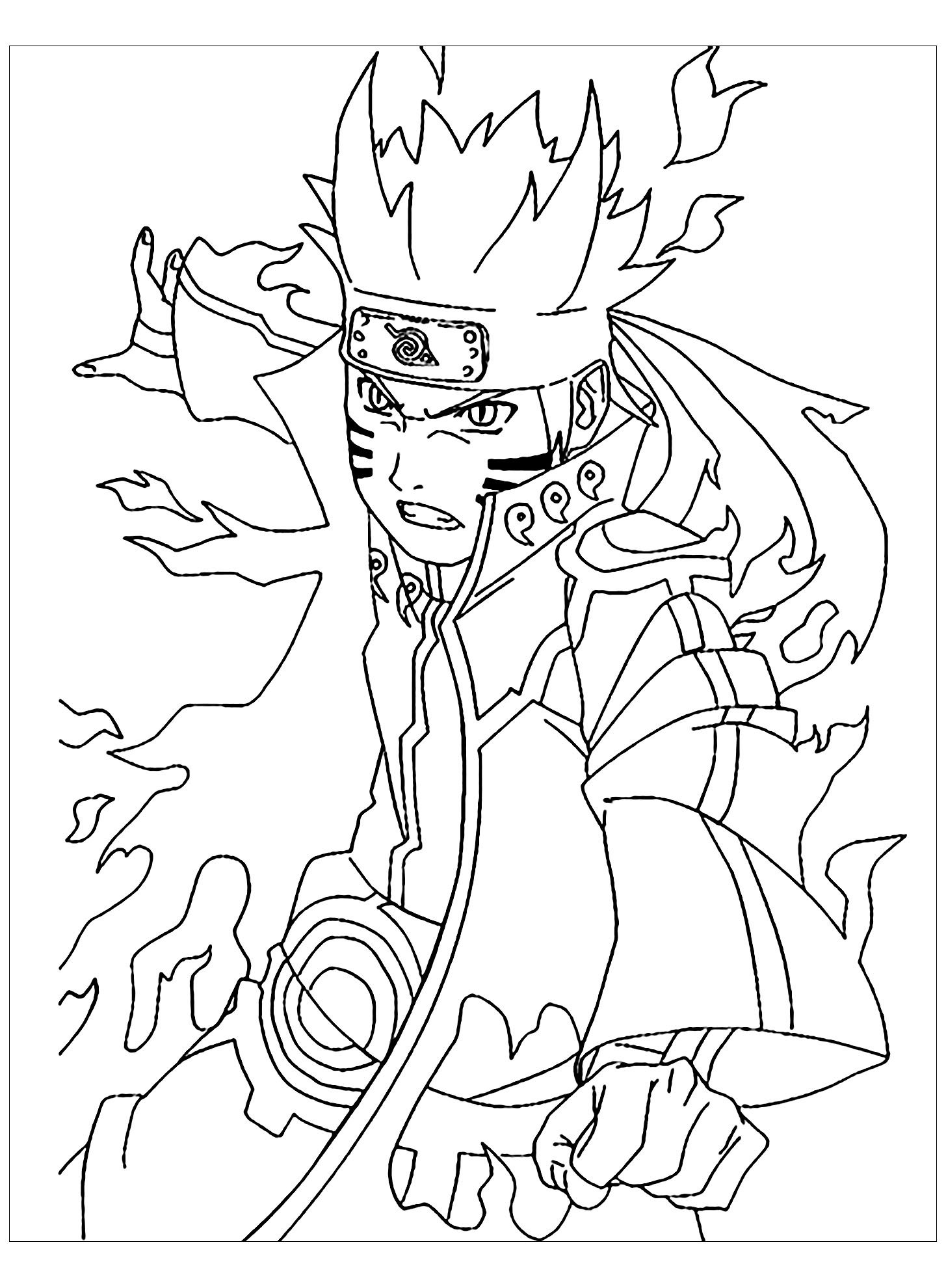 Naruto to download - Naruto Kids Coloring Pages