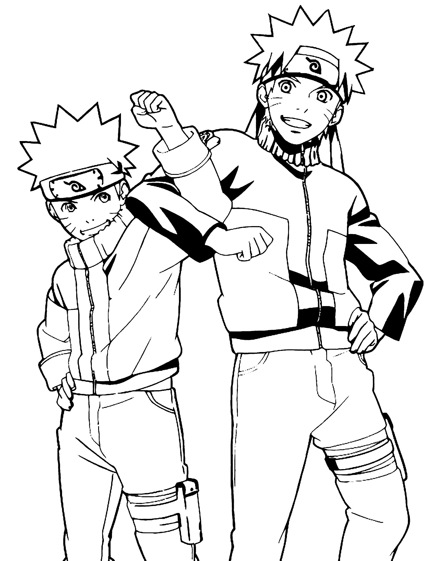 Funny Naruto coloring page for kids