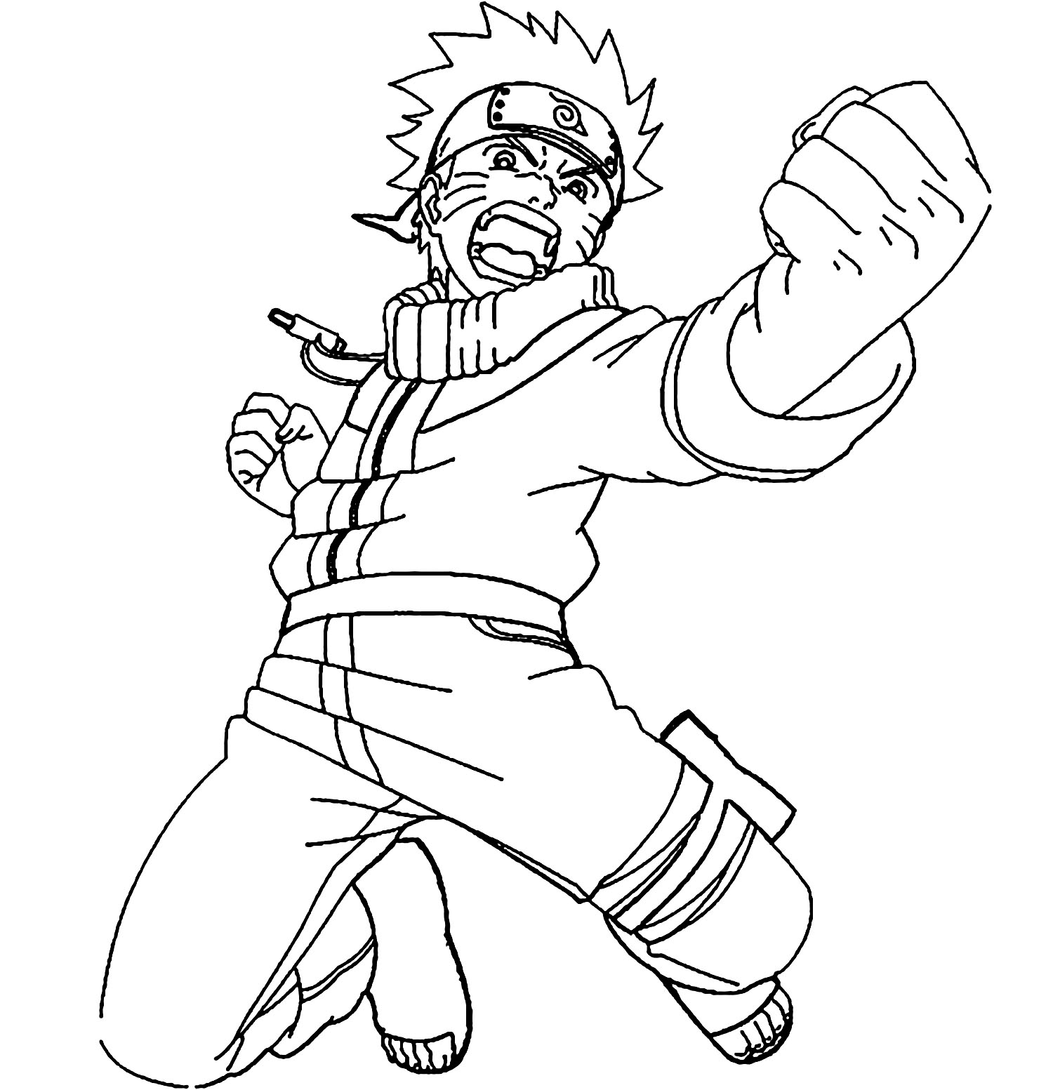 Funny Naruto coloring page for children