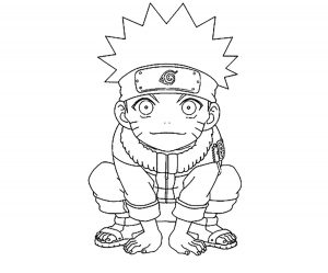 Coloring page naruto free to color for children