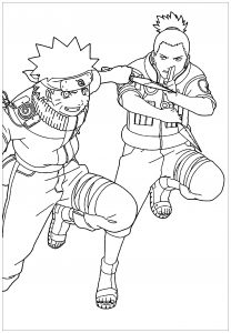 Coloring page naruto to color for children