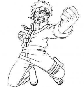 Coloring page naruto to color for kids