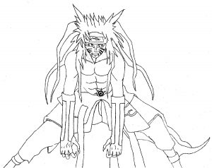 Coloring page naruto for kids