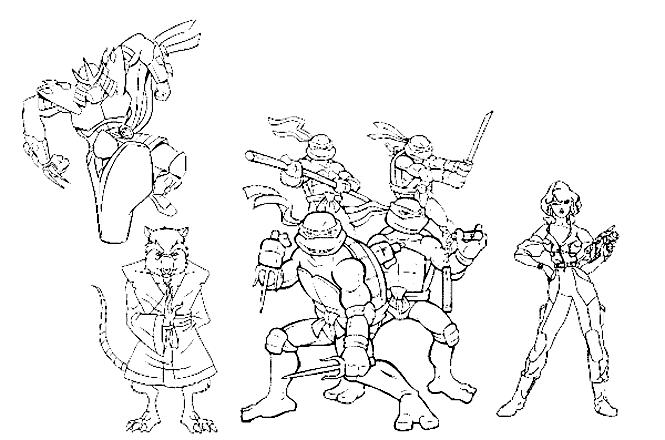 Ninja turtles to download - Ninja Turtles Kids Coloring Pages